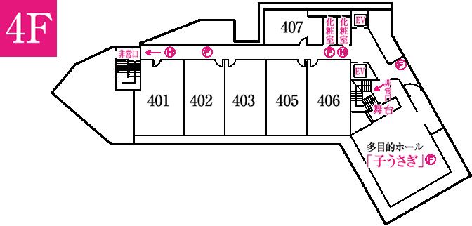 平面図: 4F